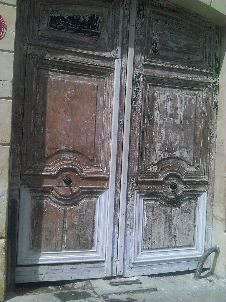Porte cochère avant peinture Paris rue des Poissonniers AM JUNG PAUL