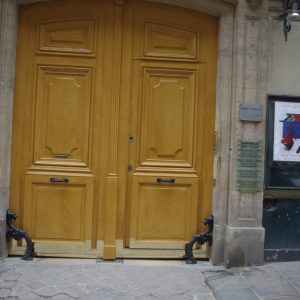 Porte cochère Paris Laiton Rue Volney AM JUNG PAUL